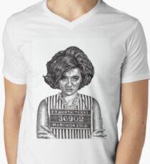 Big Hair Texas Trouble Mens V-Neck T-Shirt