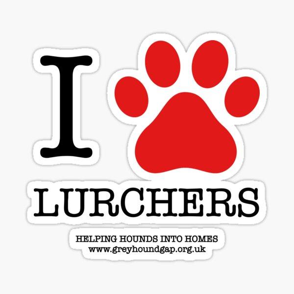 I PAW LURCHERS Sticker