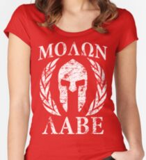 molon labe 1 Women's Fitted Scoop T-Shirt