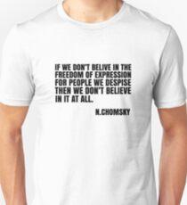 Noam Chomsky Quote Free Speech Freedom  Unisex T-Shirt