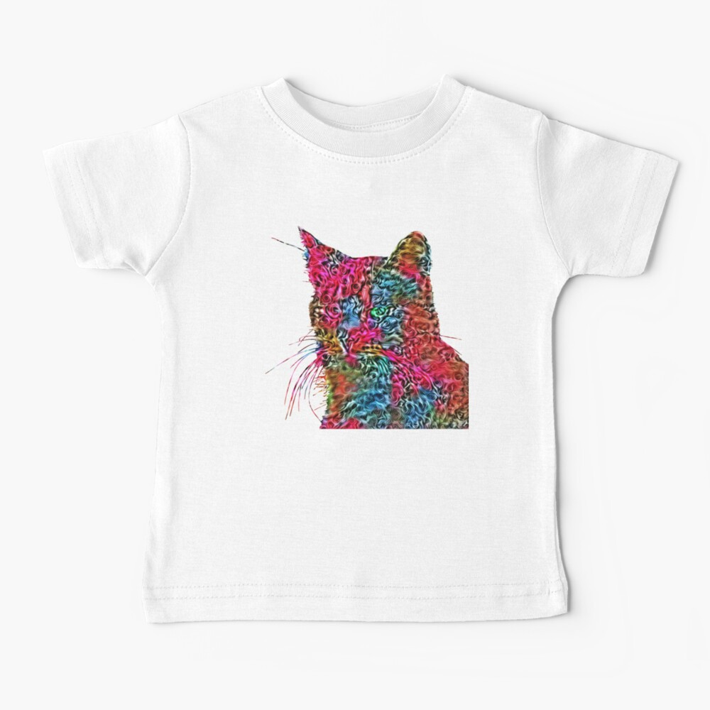 Artificial neural style Rose wild cat Baby T-Shirt
