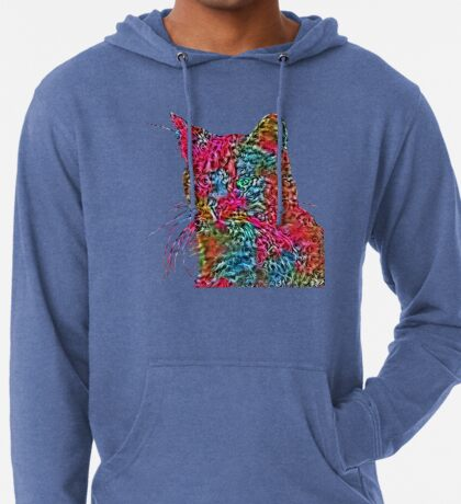 Artificial neural style Rose wild cat Lightweight Hoodie