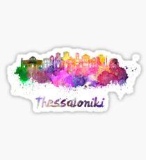 Thessaloniki skyline in watercolor Sticker