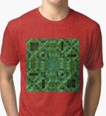 Intricately, Green Tri-blend T-Shirt