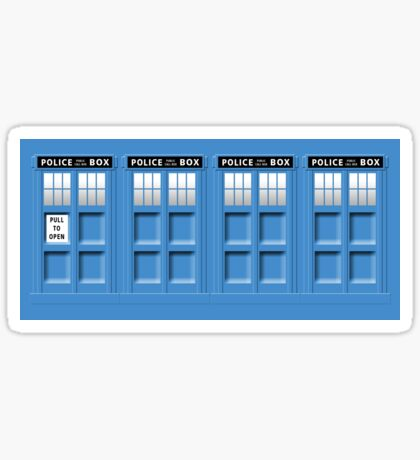 Tardis Mug Sticker
