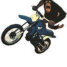 Monkey on a Dirt Bike by Megatrip