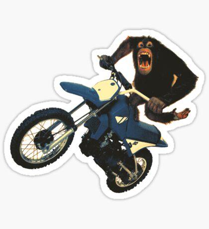 Monkey on a Dirt Bike Sticker