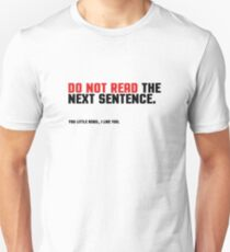 Funny Clever Joke Rebel Punk Cool Smart Unisex T-Shirt