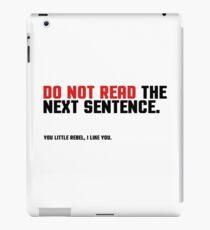 Funny Clever Joke Rebel Punk Cool Smart iPad Case/Skin