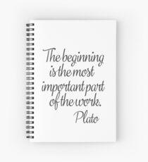 Plato quote b Spiral Notebook