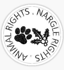 NARGLE RIGHTS Sticker