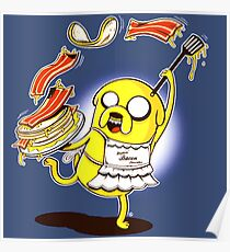 Jake Adventure Time Bacon Poster