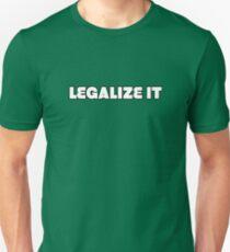 Legalize it Weed Marijuanna Pot Ganja Stoner Stoned T-Shirt