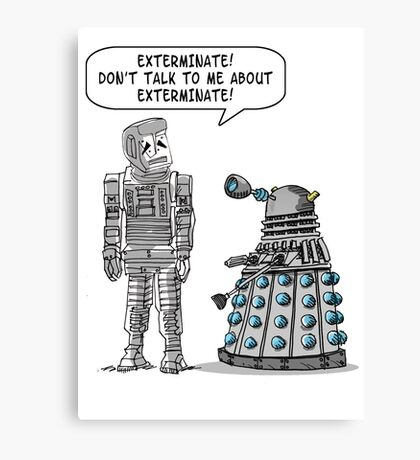 Dalek Adams 2 Canvas Print