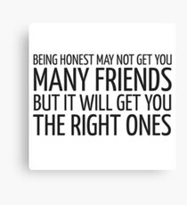 John Lennon Quote Friends Friendship Cool Inspirational Canvas Print