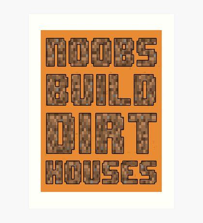 Mine craft noobs Art Print