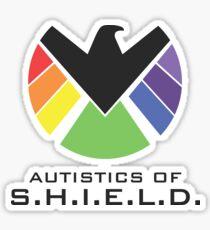 Autistics of S.H.I.E.L.D. (for light backgrounds) Sticker