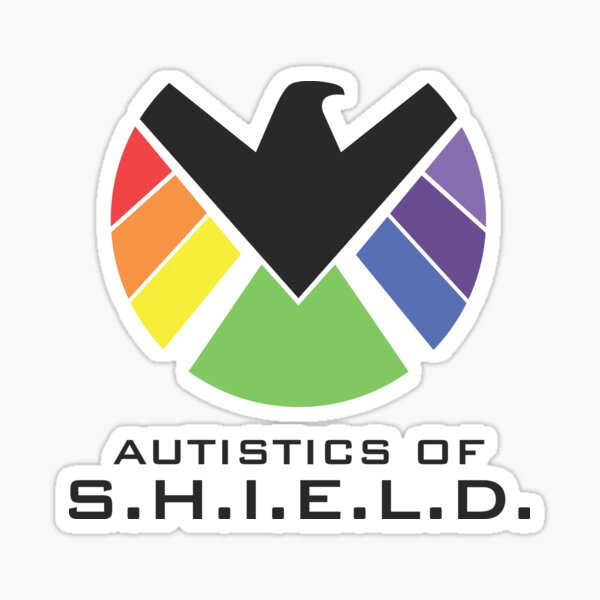 Autistics of S.H.I.E.L.D. (for light backgrounds) Sticker