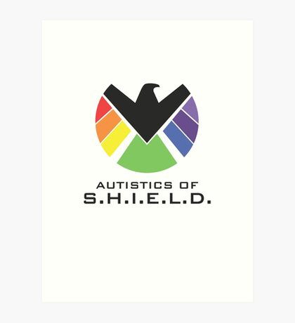 Autistics of S.H.I.E.L.D. (for light backgrounds) Art Print