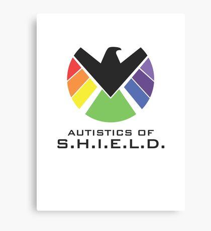 Autistics of S.H.I.E.L.D. (for light backgrounds) Canvas Print