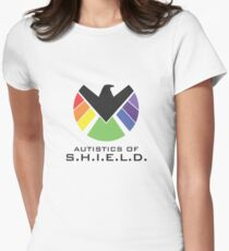 Autistics of S.H.I.E.L.D. (for light backgrounds) Women's Fitted T-Shirt