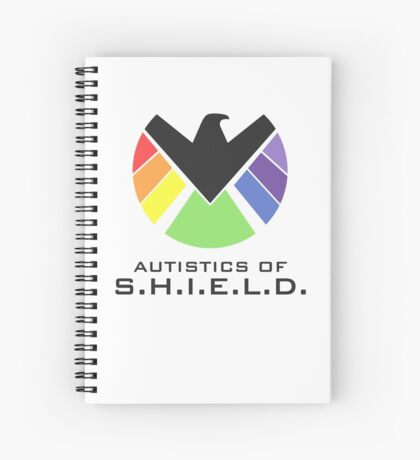 Autistics of S.H.I.E.L.D. (for light backgrounds) Spiral Notebook