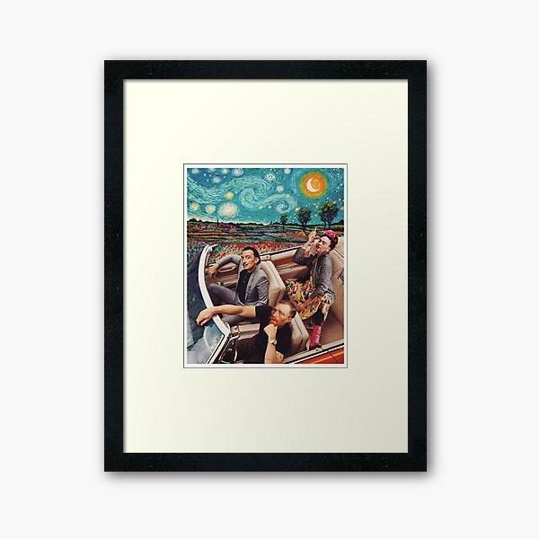 Frida kahlo Salvador dali Banksy starry night Van Gogh Framed Art Print