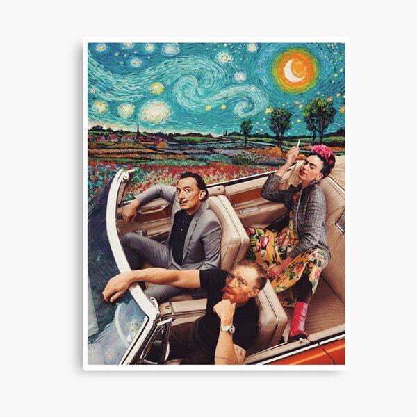 Frida kahlo Salvador dali Banksy starry night Van Gogh Canvas Print