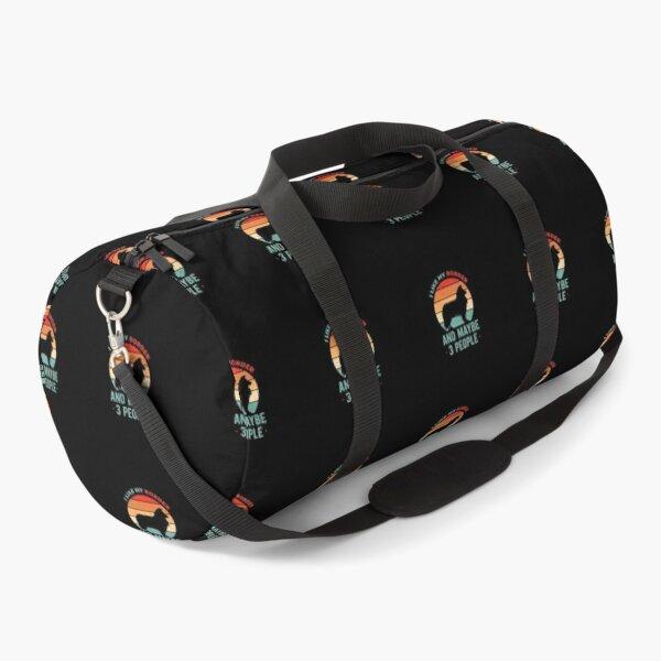 Funny Border Collie Duffle Bag