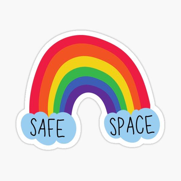 Safe Space Rainbow Sticker