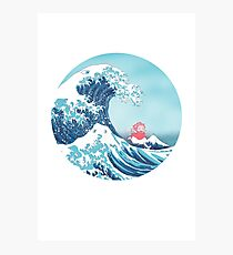 Ponyo and the great wawe (best version) Photographic Print