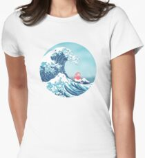 Ponyo and the great wawe (best version) Womens Fitted T-Shirt