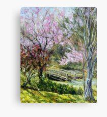 Plum Blossoms Japanese Garden  Metal Print