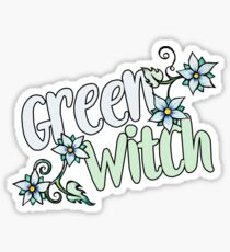 Green Witch Sticker