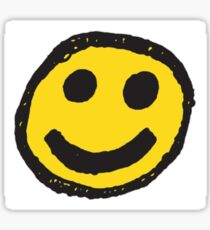 Anti Golf Smiley Face Sticker