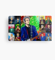 The Doctor of the Universe - The Silver Punk Metal Print