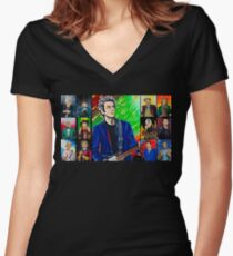 The Doctor of the Universe - The Silver Punk Women's Fitted V-Neck T-Shirt