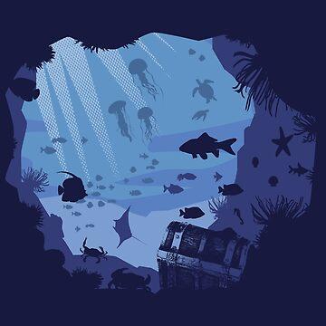 Under the sea, peacefull, zen, aquatic,  by KokoBlacsquare