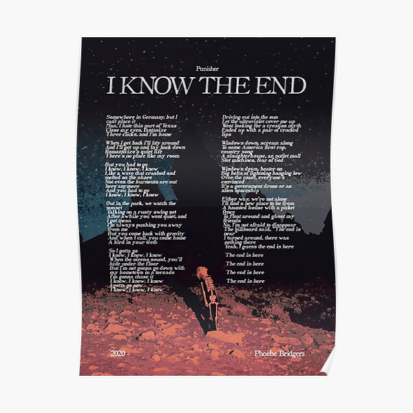 I Know The End by Phoebe Bridgers Punisher Alternative Album Poster Poster