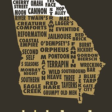 Drink Local - Georgia Beer Shirt by uncmfrtbleyeti