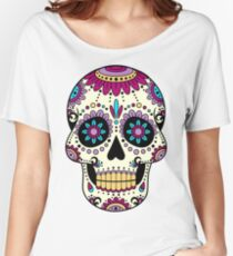 skull purple Women's Relaxed Fit T-Shirt