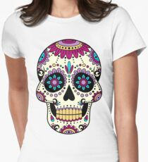 skull purple Women's Fitted T-Shirt
