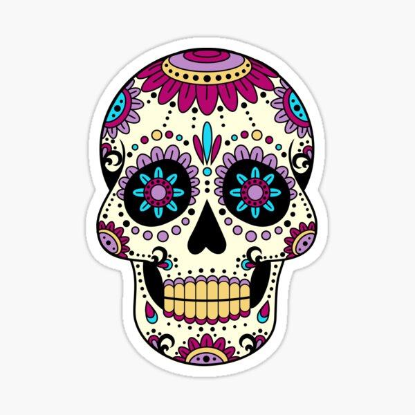skull purple Sticker