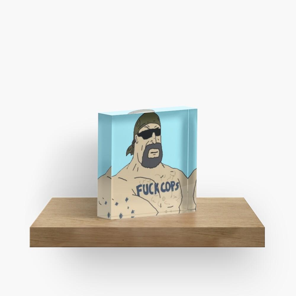 Mike Nolan F Cops Acrylic Block