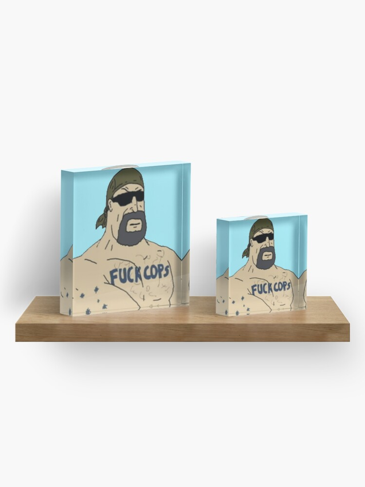 Alternate view of Mike Nolan F Cops Acrylic Block