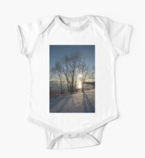 Long Shadows in the Snow One Piece - Short Sleeve