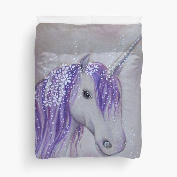 Lilac Dreaming Unicorn Duvet Cover
