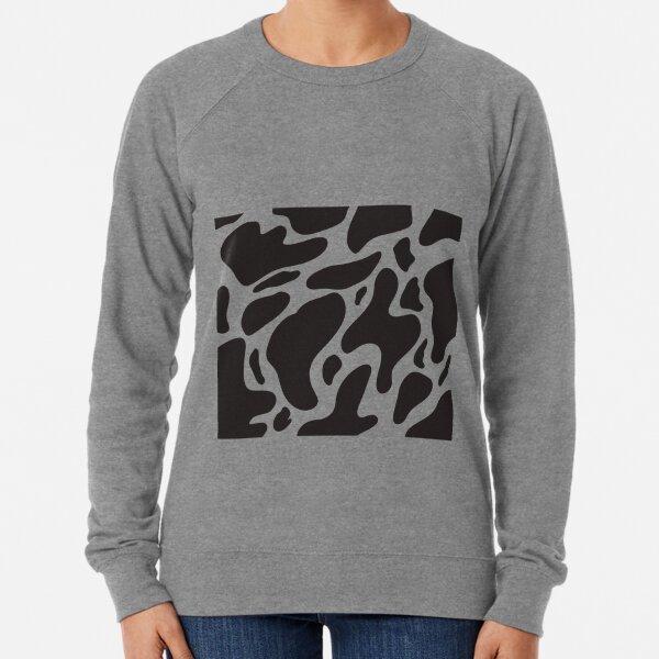 Black and White Cow Print Lightweight Sweatshirt