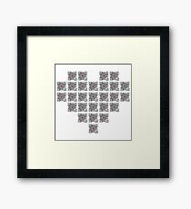 The cube is love, the cube is life -white- Framed Print