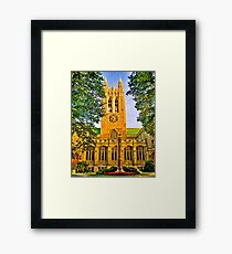 Study in Boston College Framed Print